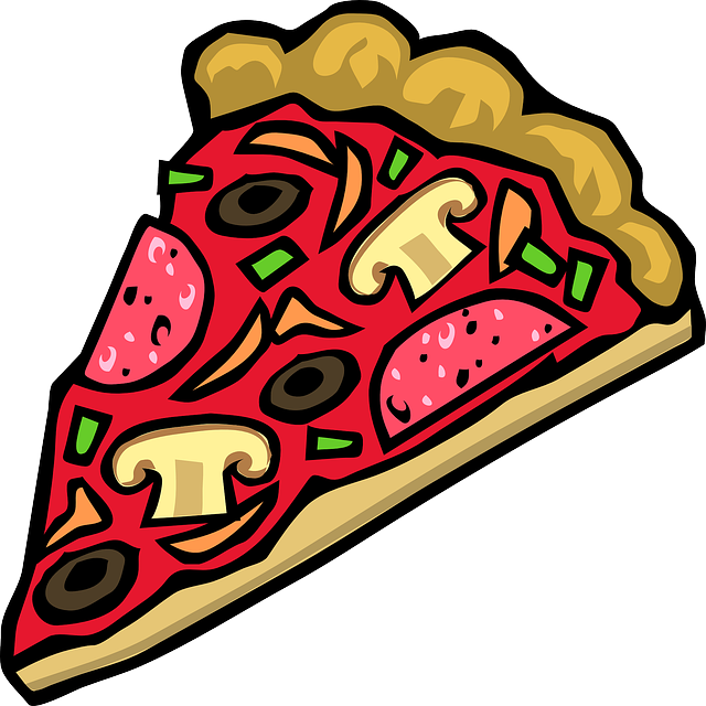 pizza pedaco Colouring Pages