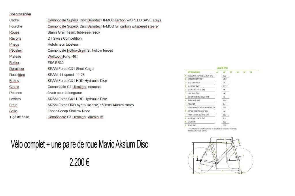 SPECIFICATIONS ET PRIX